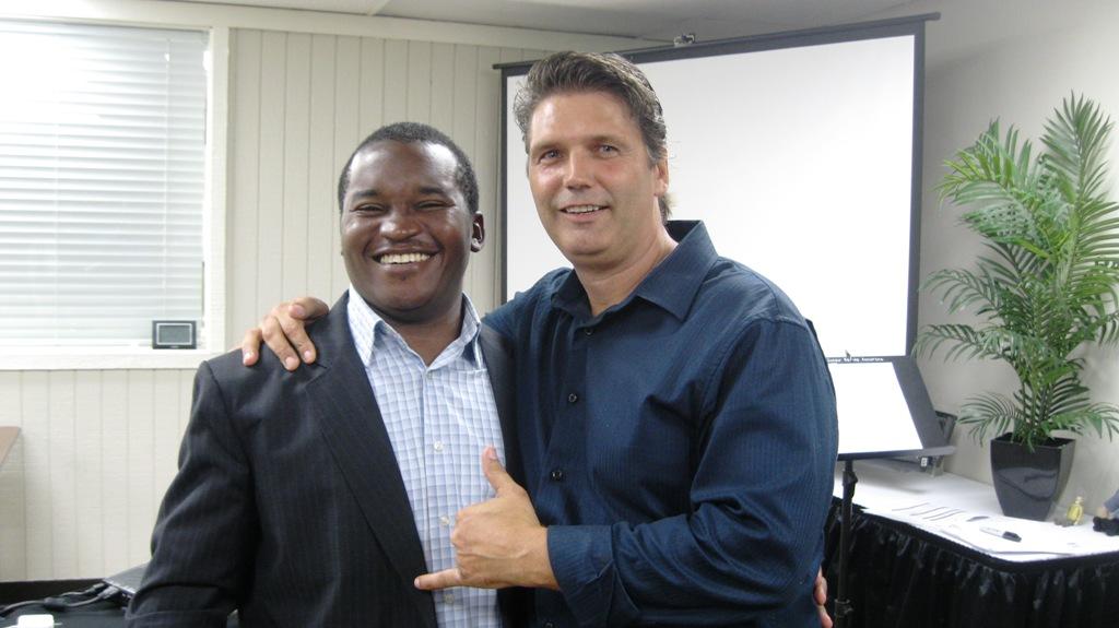 Lionnel Yamentou and Brian Adams