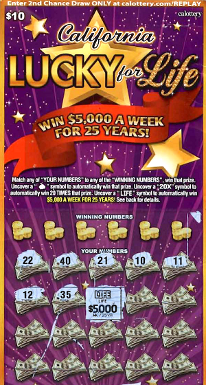california lottery life lotto