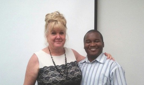 Lionnel with Cindy at the OC Speakers Bureau, September 2014.