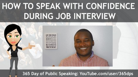how to speak with confidence during job interview